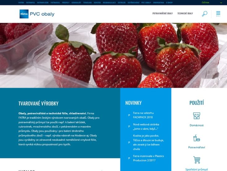 New website for PVC packages